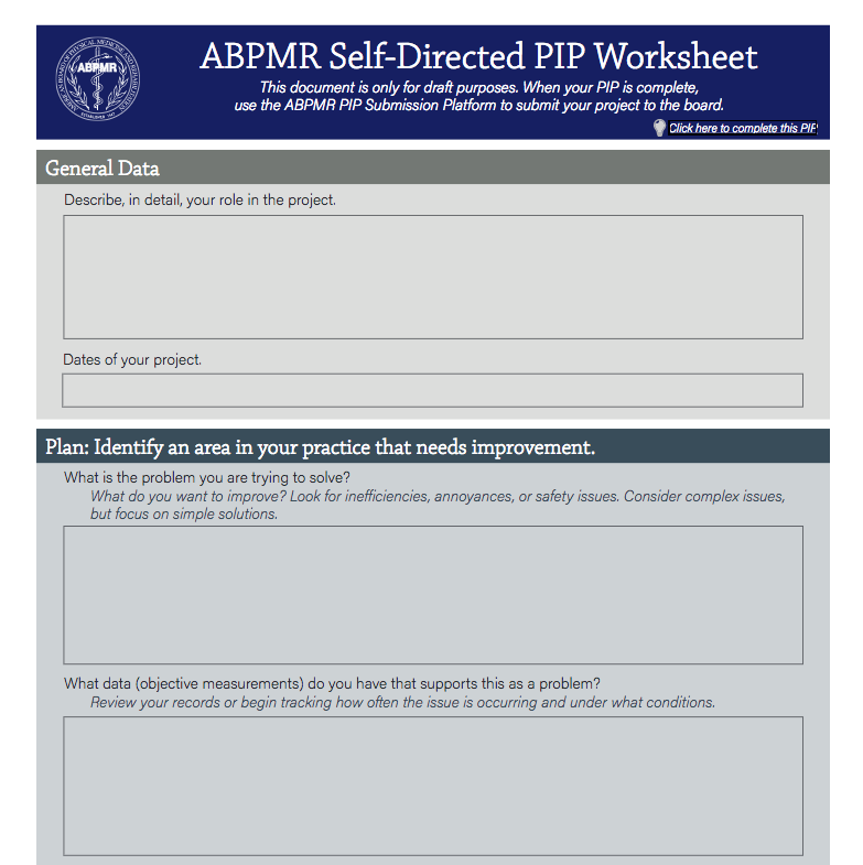 ABPMR SelfDirected PIP – Pip Template